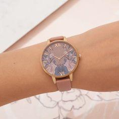 Olivia Burton Enchanted Garden Rose & Rose Gold Watch