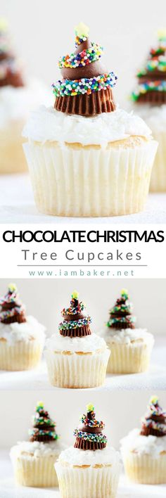Here's one of the best homemade chocolate cupcake recipes you can do this Christmas- Chocolate Christmas Tree Cupcakes! A delicious Christmas sweet treat yet fun and easy to make. Your kids will definitely fall in love with Hershey's Kisses and Miniature Reese's Peanut Butter Cups on top of this amazing cupcake recipe! More easy dessert recipes @iambaker #iambaker #iambakerdessert #iambakercupcake #christmasdesserts