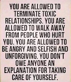 You don't owe anyone an explanation for taking care of yourself