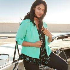 Turn Up the Turquoise   Torrid Fashion   Plus Size   Blazer