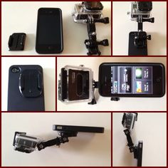 Add a Gopro to your iphone... Add a Gopro camera to your iphone download the app and save, no need to buy the Lcd backpac for the gopro.
