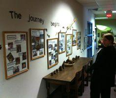 Monthly journey documentation in the main entryway Reggio Inspired Classrooms, Reggio Classroom, Classroom Organisation, Classroom Decor, Classroom Layout, Organisation Ideas, Classroom Supplies, Preschool Classroom, Organization