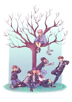 lost boys (will be giving out prints of this on both days of wings tour manila!) bts you never walk alone spring day fanart Fan Art, Bts Anime, Fanart Bts, Bts Drawings, Pencil Drawings, Wattpad, Bts Chibi, Bts Fans, I Love Bts