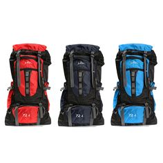 Sale 22% (39.59$) - 72L Outdoor Climbing Rucksack Backpack Mountaineering Bag Pack For Camping Hking Trekking
