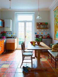 Rosie Wolfenden - beaut colourful home - kitchen