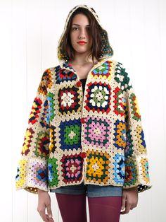 crochet granny square jacket coat free pattern