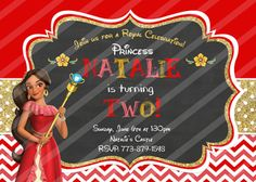 Disney Princess Elena of Avalor Birthday Invitation