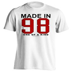 18th Birthday Gift T-Shirt - One of a Kind - Born in 1998 Short Sleeve Mens T-Shirt