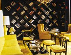 Viceroy - Santa Monica  Yellow Gold-Black Bookcase Wall