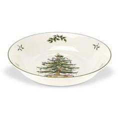 Spode Christmas Tree - Low Serving Bowl at eCookshop