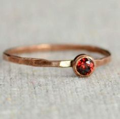Delicate Garnet #Ring (January's Mother's/Birthstone Ring) Minimal & Simple…