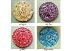handgemachte Keramik Untersetzer set von artcrafthome auf Etsy