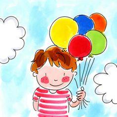 by Blond Amsterdam Blond Amsterdam, Amsterdam Art, Balloon Illustration, Boy Illustration, Happy Eid Mubarak, Drawing For Kids, Photo Book, Illustrations Posters, Balloons