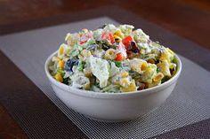 collecting memories: Creamy Pasta Salad with Greek Yogurt Feta Dressing