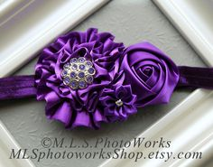 The Perfectly Purplicious Headband  Baby Girl by MLSPhotoWorksShop, $7.25