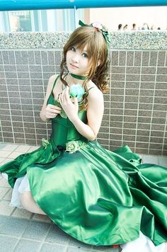 Sailor Jupiter in her princess dress from Sailor Moon. I totally want this dress! Plus, Jupiter is my favorite, so I definitely want to cosplay her.