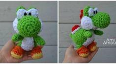 Patron Amigurumi : Yoshi le dinosaure de Mario tuto gratuit franaçais crochet ( free french pattern)
