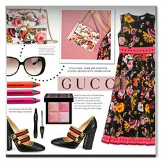 """Presenting the Gucci Garden Exclusive Collection: Contest Entry"" by sherri40 ❤ liked on Polyvore featuring Gucci, Urban Decay, Givenchy, Lancôme and gucci"