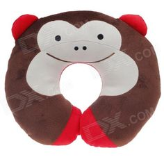 Brand: N/A; Model: 6405; Quantity: 1 piece(s) per pack; Color: Brown + red + ivory; Material: Soft plush + Polyester fiber; Specification: Cute monkey style design; Soft and comfortable; Relax your neck while watching TV, travelling or afternoon nap etc; Packing List: 1 x Neck pillow; http://j.mp/1sWGW62