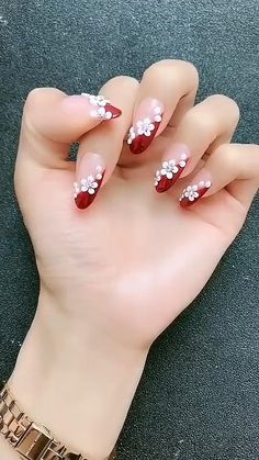 Powerful Tools for User and Customer Engagement - Christmas Nail Art Designs Nail Art Designs Videos, Nail Art Videos, Simple Nail Art Designs, Acrylic Nail Designs, Acrylic Nails, Gel Nails, Fingernail Designs, Simple Nail Arts, Nail Art Tutorials