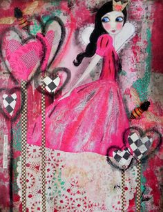 Queen of Hearts 2012 design 5x7 VALENTINE Art Card
