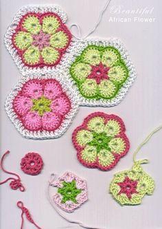 DIY crochet flower pattern. CROCHET AND KNIT INSPIRATION: http://pinterest.com/gigibrazil/crochet-and-knitting-lovers/