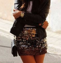 How to Chic: SEQUIN SKIRT