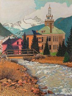 Impression Evergreen: Silverton Colorado - Colored Pencil Drawing