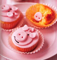 Pink Piggy CupCakes   the Cupcake Recipes