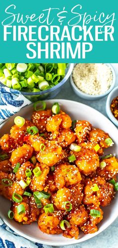This Firecracker Shrimp is sweet, sticky, spicy and crunchy - it's a perfect appetizer or main dish when served with broccoli and rice. #firecrackershrimp Supper Recipes, Lunch Recipes, Crockpot Recipes, Soup Recipes, Salad Recipes, Breakfast Recipes, Vegetarian Recipes, Chicken Recipes, Healthy Recipes