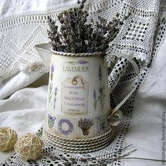 """Вазы ручной работы. Ярмарка Мастеров - ручная работа. Купить Кувшин""""Лаванда"""". Handmade. Лаванда, ваза для сухоцветов, металл"""