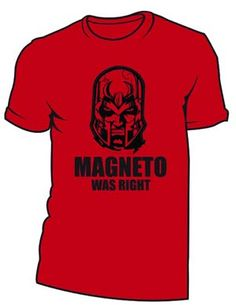 Magneto Was Right Red T-Shirt Large