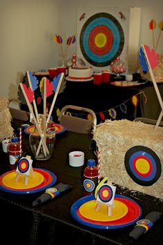 @Casey Brewer@Carm  Archery Party! Kaiden's next birthday!