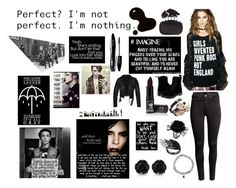"""""""I'm nothing..."""" by punksandrebel on Polyvore featuring Black Swan, Too Fast, Manic Panic, Lancôme, H&M, Dr. Martens, Alexander McQueen and Accessorize"""
