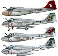 A-6 Intruder. All weather attack aircraft. Its bomb load is equal to a WWII B-17.
