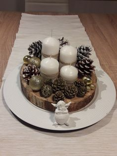 Adwent wreath #wood #advent #christmastime