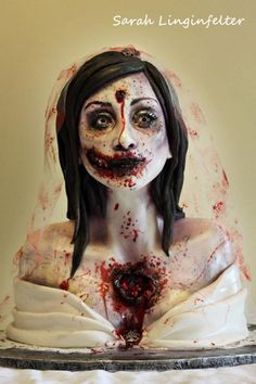 Holy crap! a cake, a zombie and a wedding all wrapped up in to one!