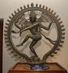 This is a reproduction of Chola Bronze Statue of Tajore district of Tamil Nadu in India.    Nataraja  is the name of this particular statue.