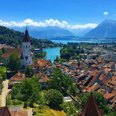 mastery-art-perfection-beauty:  View from Thun Castle, Thun, Switzerland.