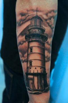 lighthouse tattoo by graynd.deviantart.com on @deviantART