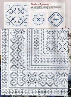 ru / Фото - New Stitches 66 - tymannost Motifs Blackwork, Blackwork Cross Stitch, Blackwork Embroidery, Cross Stitch Borders, Cross Stitching, Cross Stitch Embroidery, Embroidery Patterns, Hand Embroidery, Cross Stitch Patterns