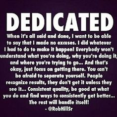 Are YOU dedicated? #Instagram #motivation