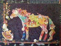free laura heine quilt pattern download | Confetti Quilt Pattern Confetti...a collage horse! Easy instructions ...