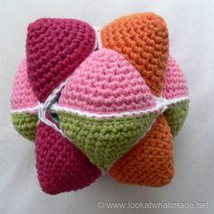 Star Ball Folding Star Ball   A Crochet Amish Puzzle Ball Pattern