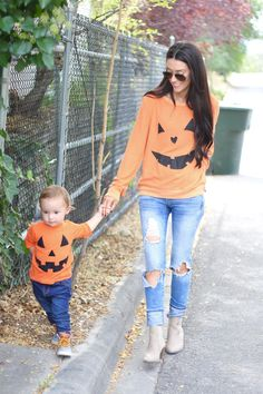 The cutest pumpkin Halloween shirts!