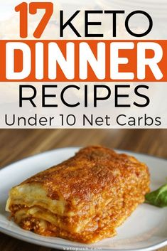 Never Run Out Of Delicious Ideas With These 17 Keto Dinners Under 10 Net Carbs! You don't need to stick to the usual salads for dinner if you're on ketosis. These keto dinners under 10 net carbs are absolutely delicious and packed with flavor! Low Carb Keto, Low Carb Recipes, Diet Recipes, Cooking Recipes, Recipes Dinner, Cena Keto, Low Carb Marinara, Dinner Salads, Salads