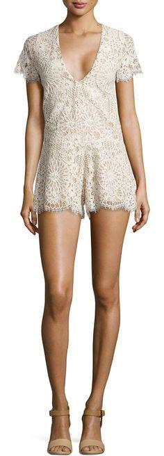 ALEXIS nude lace jumpsuit found on Nudevotion