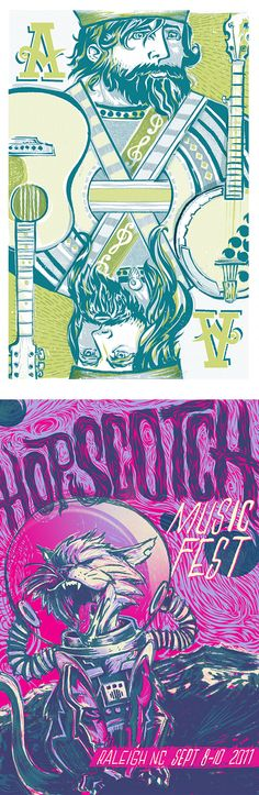 """Gig Posters by Brian """"Doc"""" Reed 