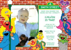Sesame Street - The Whole Gang Invite
