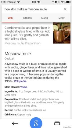 @Google's New #Cocktail #Search Just Made #Drinking At Home A Lot Classier